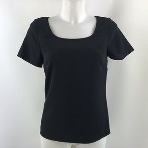 St John Black Short Sleeve Top Size XS